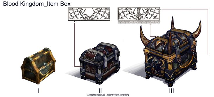ArtStation - item box design, Song Min