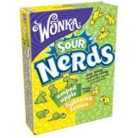 Wonka Lightning Lemon & Amped Apple Sour Nerds 1.65 OZ (46.7g)