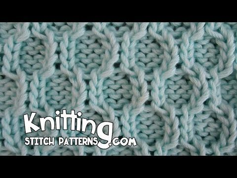Honeycomb Trellis stitch
