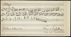Schubert, Franz, Composition, violin (Album leaf) - Music Manuscripts Online - The Morgan Library & Museum