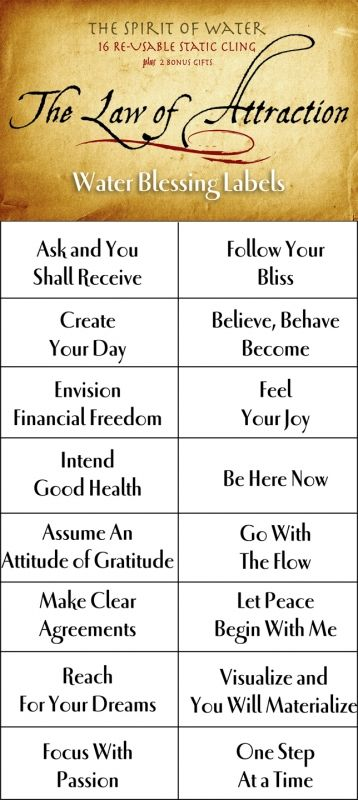 Labels law of attraction