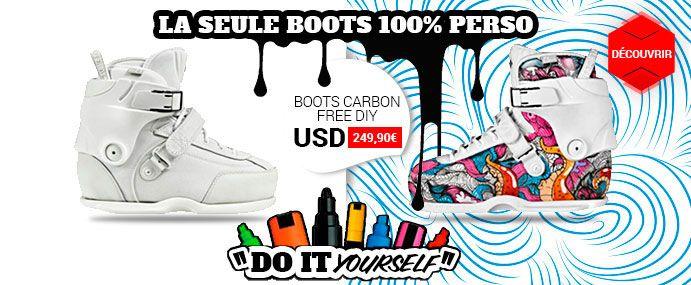 Mortel ce concept et la boot est de base du bon matos. Alors nous on aime :) http://www.nomadeshop.com/rollers/rollers-street/rollers-street/boots-seules/usd-boots-carbon-free-plus-diy-13895.html