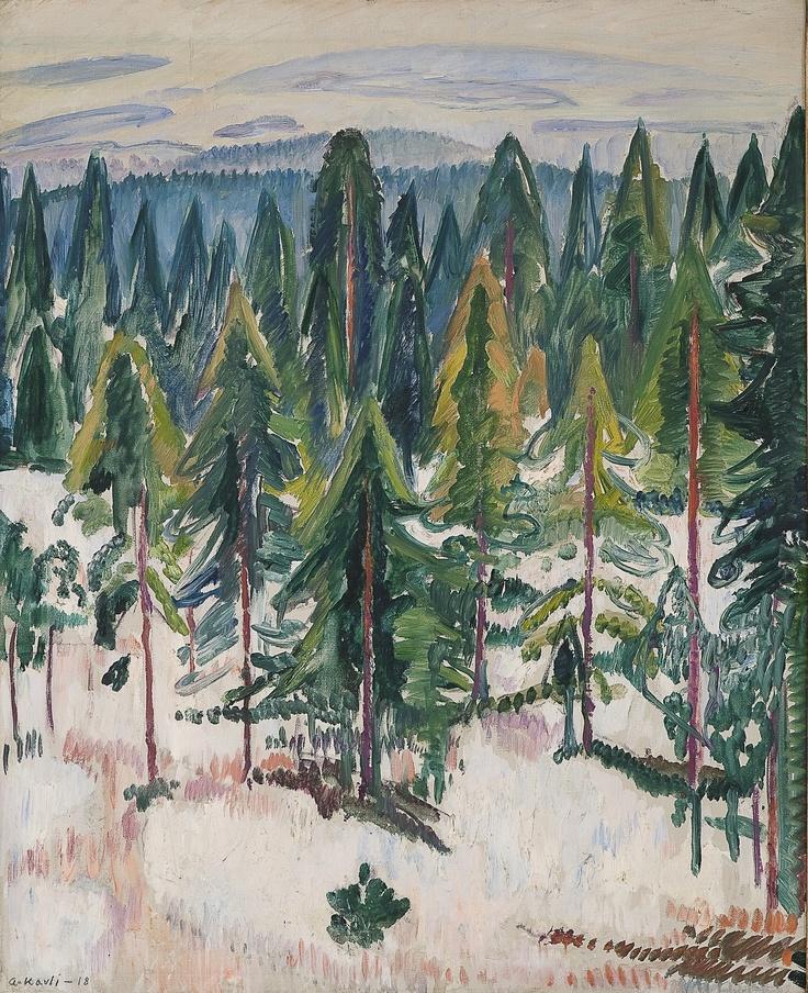 Arne Kavli (1878 – 1970): From Holmenkollen, 1918