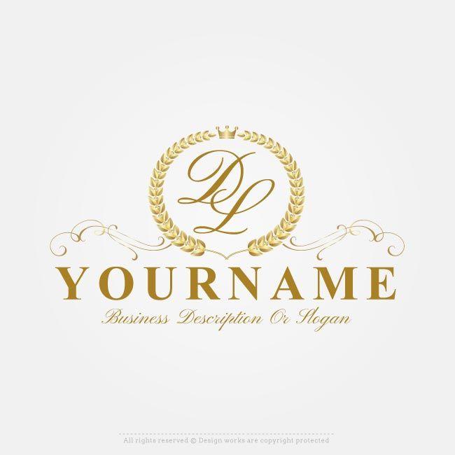 Free Vector Logo Maker Online Royal Laurel Wreath Logo Creator