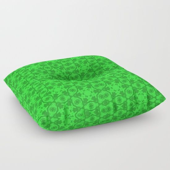 "Eye catching ""Greenery Kaleidoscope 8075"" Floor Pillows - the cushiest cushions ever crafted."