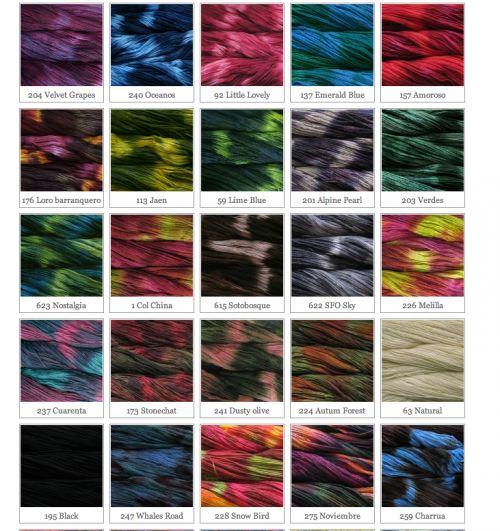 Malabrigo variegated yarn colors