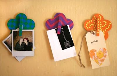 DIY clipboards using coasters and clothespins