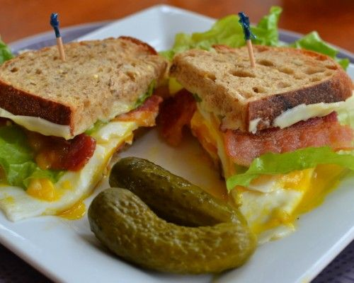 Egg, Bacon, Lettuce and Tomato Sandwiches   Small Town Woman