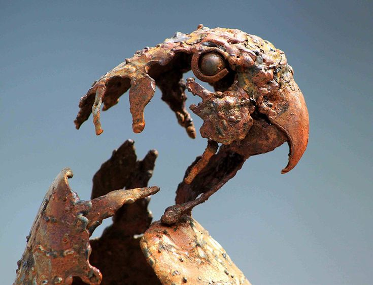 Hasan Novrozi, a talented sculptor trained in Iran, has created a wonderful collection of steampunk animals sculptures