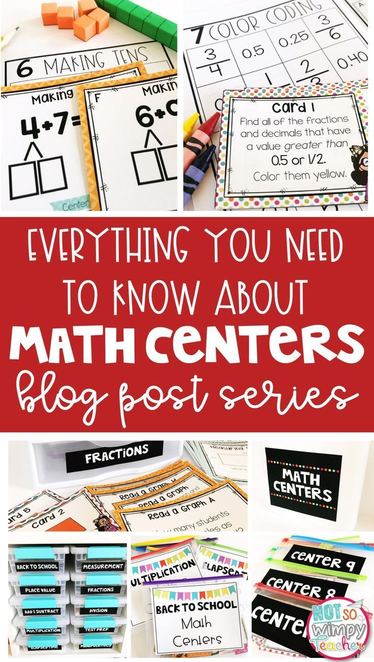 A blog post series with everything you need to know about using math centers and guided math groups! There are posts with simple to prep center activities, center schedules, tips for fitting everything in and lesson plans to introduce center routines at the beginning of the year!