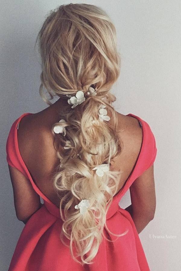 Ulyana Aster Long Wedding Hairstyles & Updos 5 / http://www.deerpearlflowers.com/romantic-bridal-wedding-hairstyles/3/