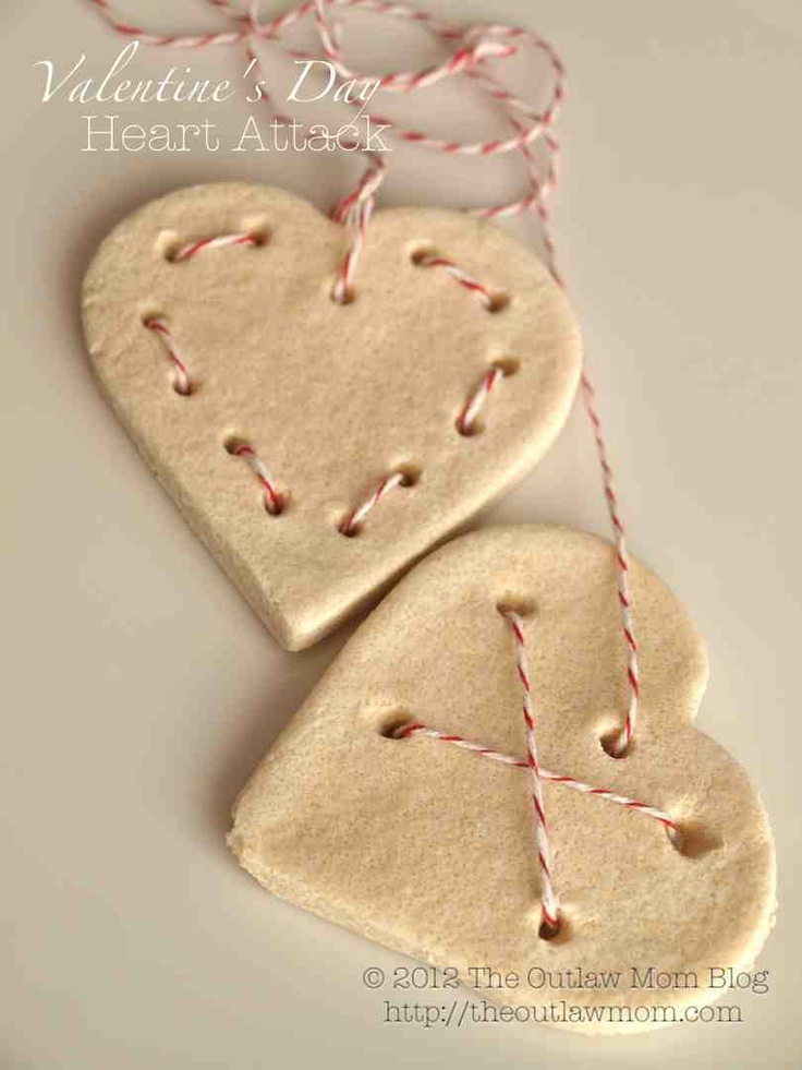 valentine's day salt dough heart attack