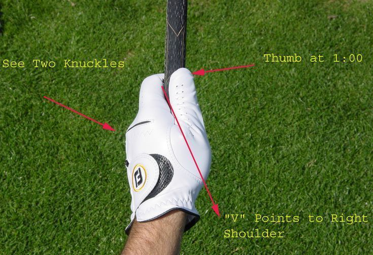 How To Grip Your Golf Club Check Knuckles And V Position Coolgolftips Golf Tips Perfect Golf Golf Grip