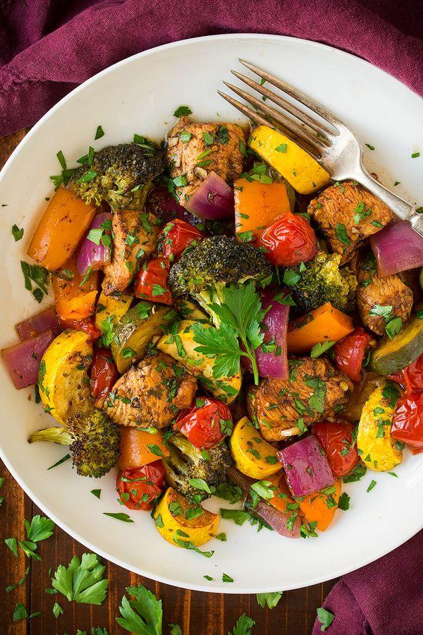 Balsamic Chicken and Veggie Sheet Pan Dinner - Cooking Classy