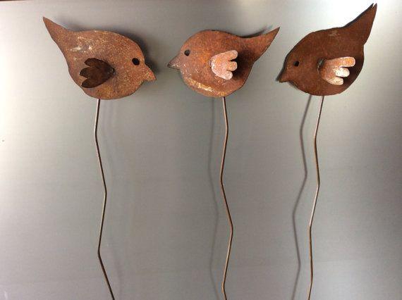 Oiseau d'Art Design rustique Metal jardin ~ Art de Cour ~ ornement de pelouse ~ décoration mariage ~