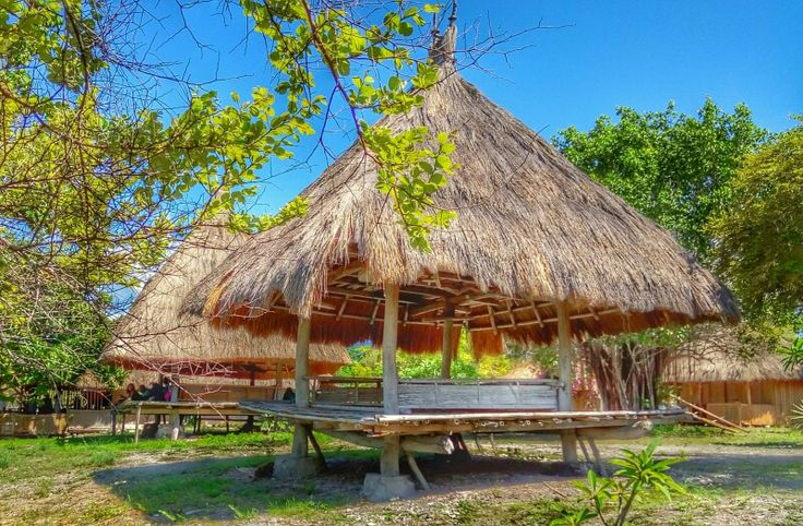 Traditional house of Flores, kepa island, east nusa tenggara,  indonesia