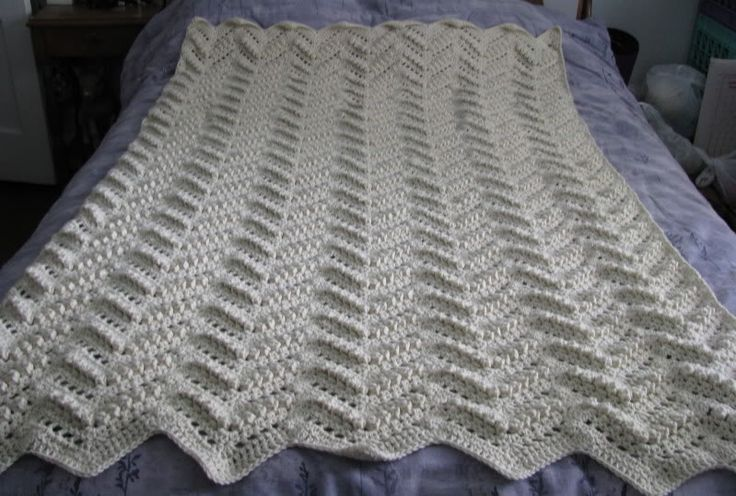 Free Pattern For Single Crochet Ripple Afghan : Popcorn Ripple Afghan Afghans Crochetville A To Z Baby ...