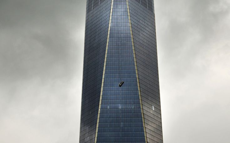 ...The two window washers were trapped for more than an hour outside the 69th floor of New York's tallest skyscraper Picture: REUTERS/Mike Segar
