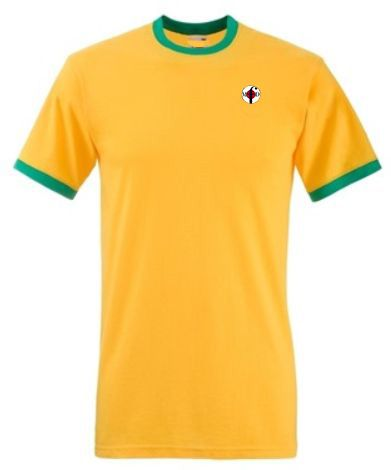 Northern Soul Ringer T-Shirts Yellow & Green from Men Of Distinction