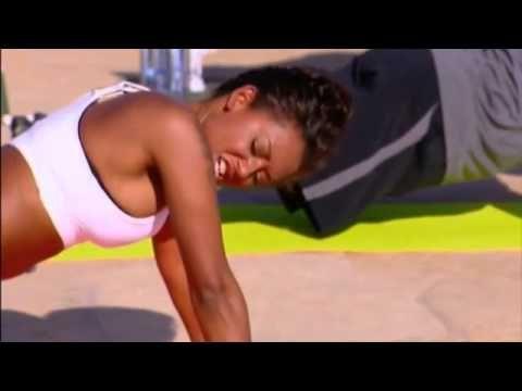 Mel B - 10 minutowy trening klatki piersiowej i pleców - YouTube