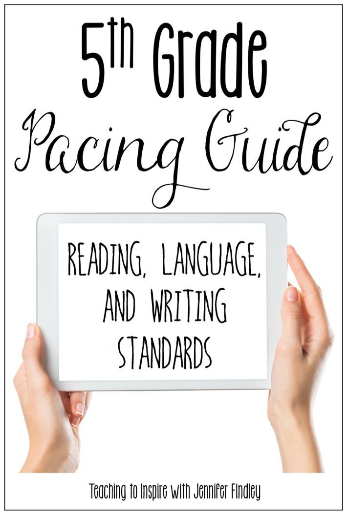 This 5th grade ELA pacing guide covers reading, writing, and language skills. A link to a math version is also included in this post.