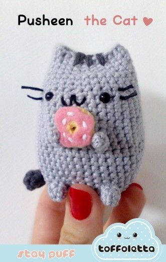 Pusheen the cat cute kawaii amigurumi by Toffoletta