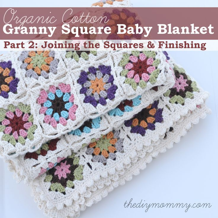 Crochet an Organic Cotton Granny Square Baby Blanket by The DIY Mommy - brilliant share, thanks so! xox