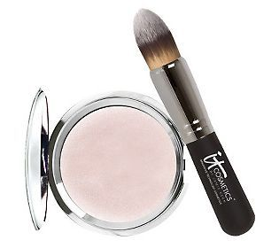 There are no words for this....I'm not into highlighters and that whole rage. Then came this. You can NOT even see it on your skin...nothing but illumination. Incredible!  It Cosmetics Hello Light Anti-Aging Creme Luminizer with Brush — QVC.com