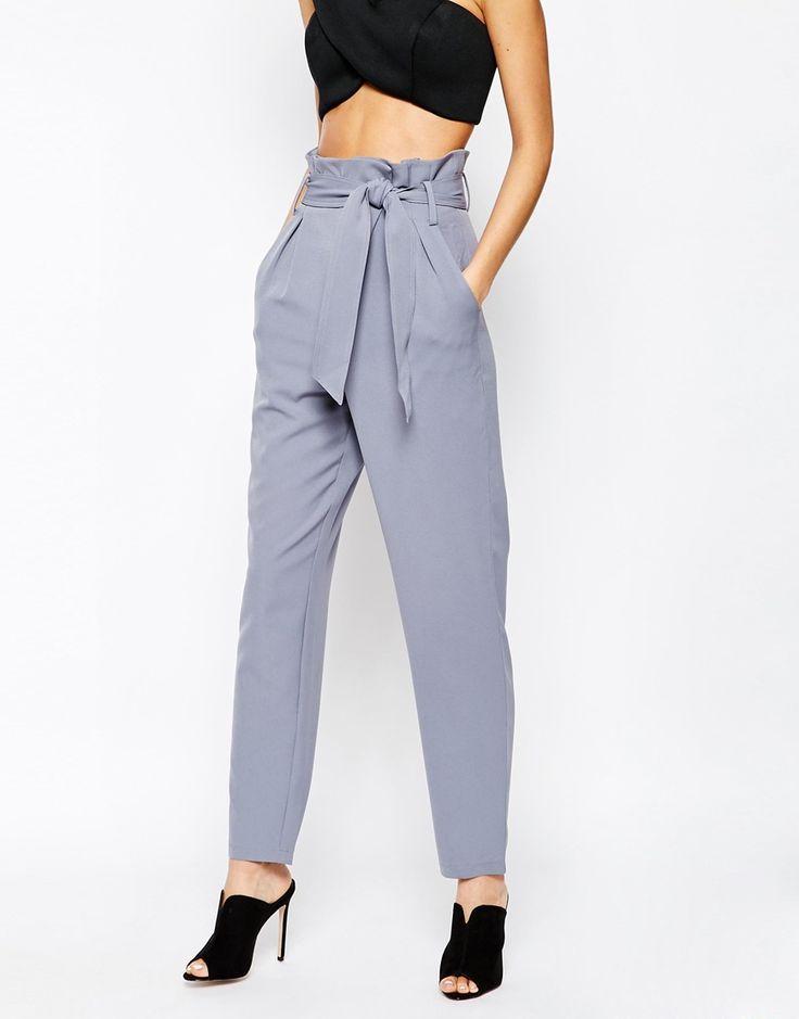 ASOS - Lavish Alice Paper Bag Peg Trouser with Belt £48.00