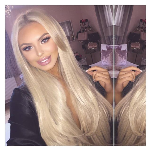 Selfie game strong 😍😘 @pollymarchant is wearing our Super thick 8 Piece Straight Clip-in Hair Extensions in the shade light Golden Blonde ❤️ Love her look? Only £25 @ LullaBellz.com  All our Extensions come pre-styled and pre-clipped, our synthetic range are heat resistant up to 180°, available in various styles and lengths 👸