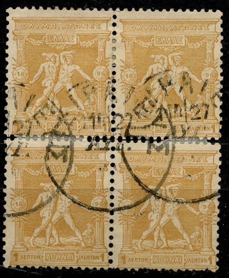 GREECE 1896 Olympic Games 1 Lepto Hellas #109 Block of 4 -PK5 http://united-kingdom-guide.info/dk/ge/?query=391301929874…