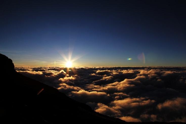 Sunrise on Mt Kilimanjaro...