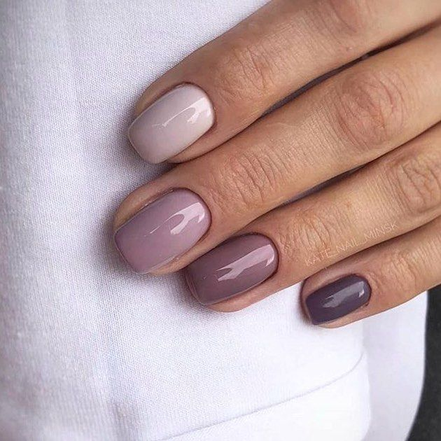 Spring S New Nail Trend Are Gradient Nails A Rainbow Inspired Type Of Nail Art That Uses A Differe Purple Ombre Nails Gradient Nails Pretty Nail Art Designs