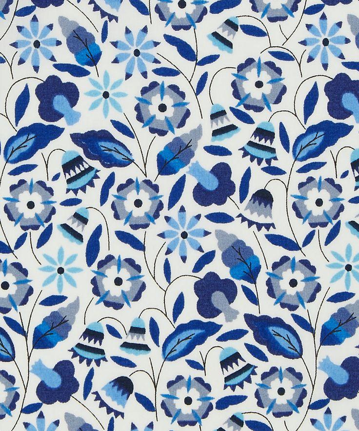 Bobo D Tana Lawn Cotton. Inspired by needlework embroidery | Liberty Art Fabrics