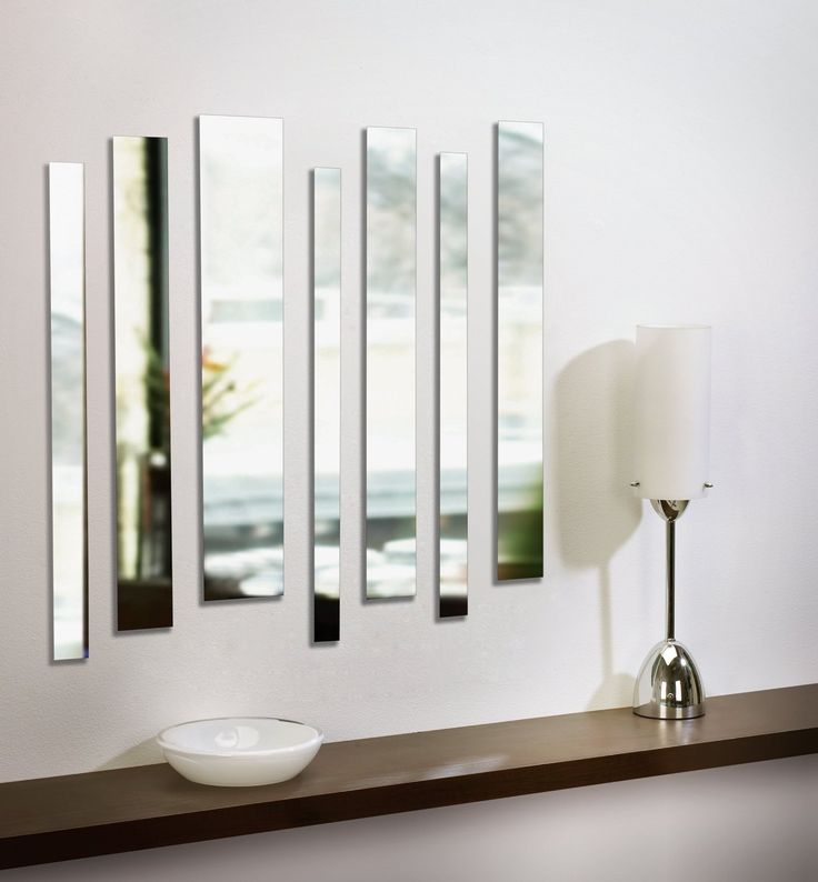 Silver Modern Design Hallway Wall Art Mount Mirrors Home Decor Living Room