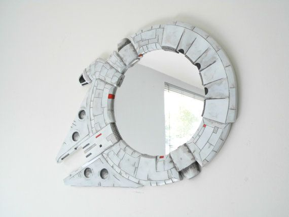 Millennium Falcon Star wars VII decorative funky by funkymirrors