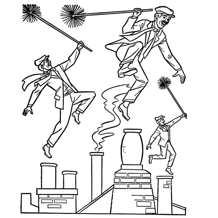 mary poppins coloring pages book - photo#5