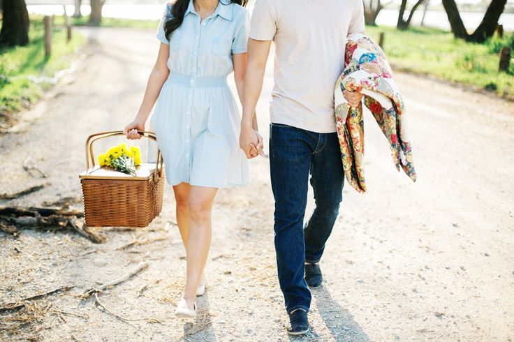 Cute! whish i could see their faces  wine picnic engagement photos - Google Search