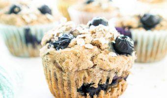 Blueberry Banana Power Muffins