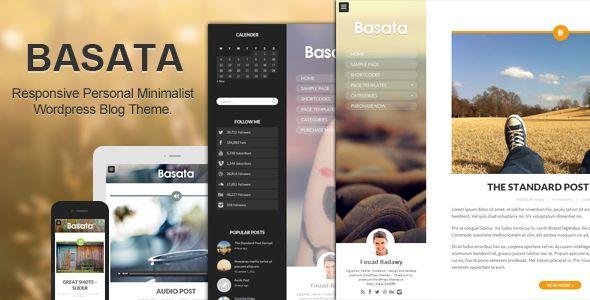 Basata – Retina Responsive Creative WordPress Blog Theme