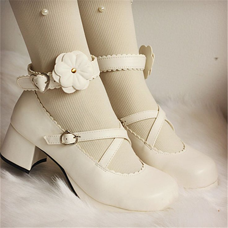 Sexy Platform Women Pumps Janpanese Harajuku High Chunky Heels Cosplay Lolita Shoes Round Toe Ankle Buckle Straps Wedding Shoes //Price: $US $26.24 & FREE Shipping //     #woman