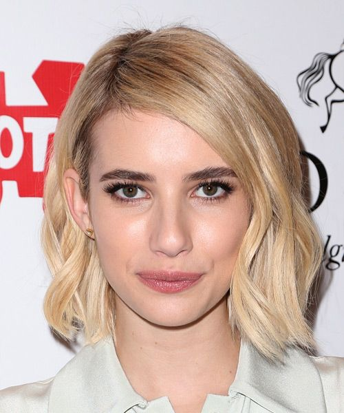 199 best mid length straight hairstyles images on pinterest emma roberts medium straight casual hairstyle light blonde hair color urmus Choice Image