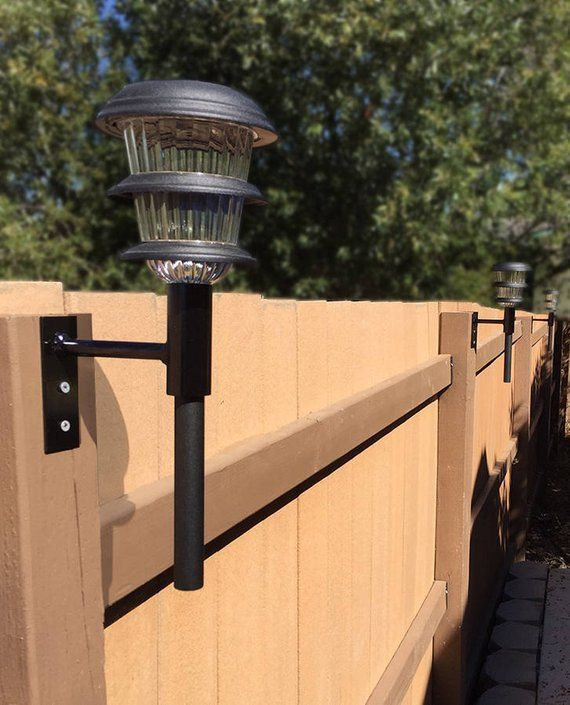 3 Pack Solar Light Fence Mount With