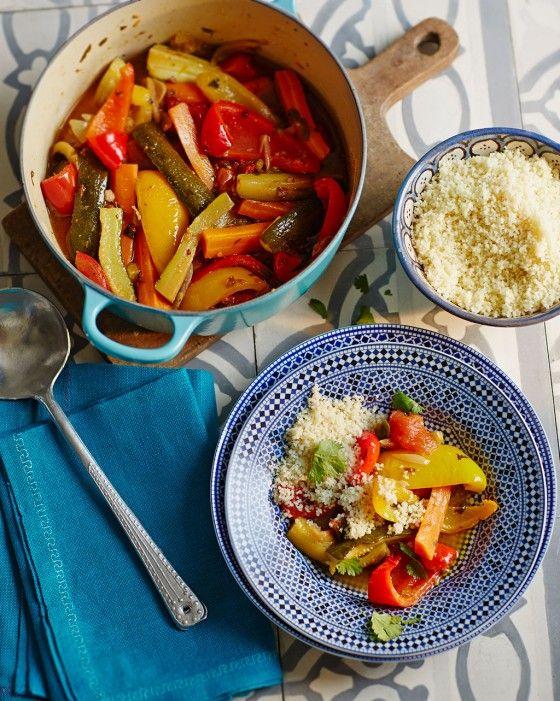 Gemüse-Couscous mit Datteln