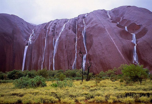 the uluru waterfalls  australia