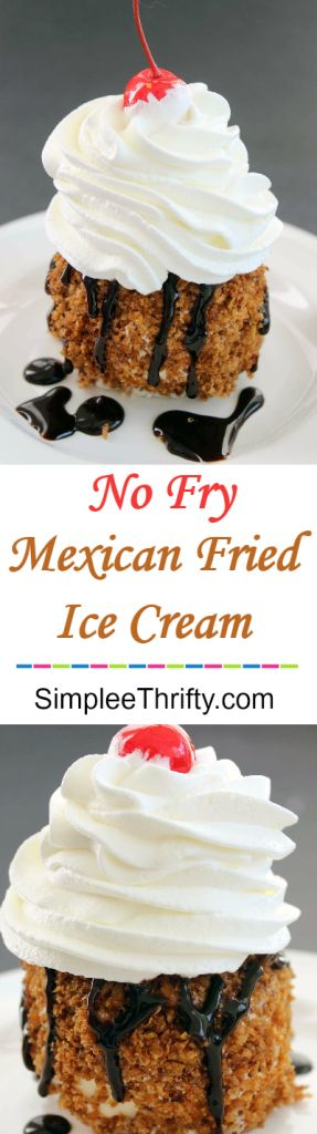 Easy to follow Mexican No Fry Fried Ice Cream! Try this with a caramel topping too!