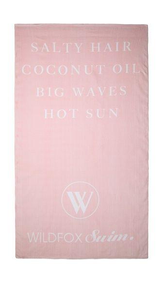 Wildfox Swim Towel  Salty Hair  Coconut oIL  Big Waves  Hot Sun