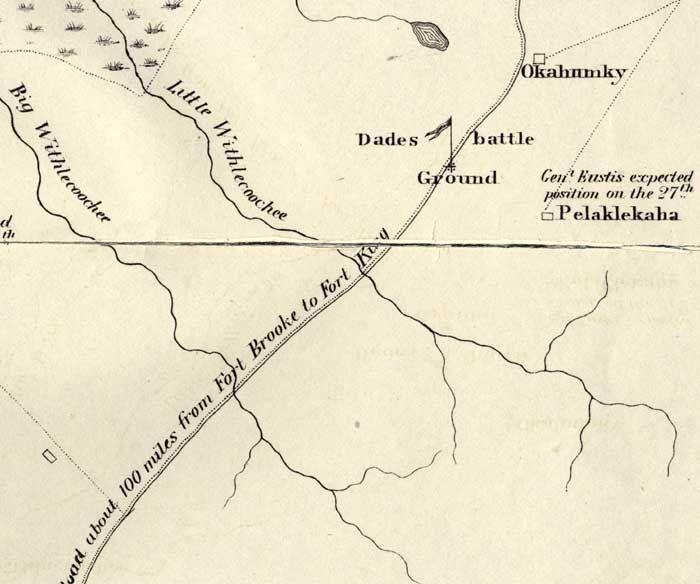 Detail Map of Major Dade Battle Ground: Dades Battle Ground