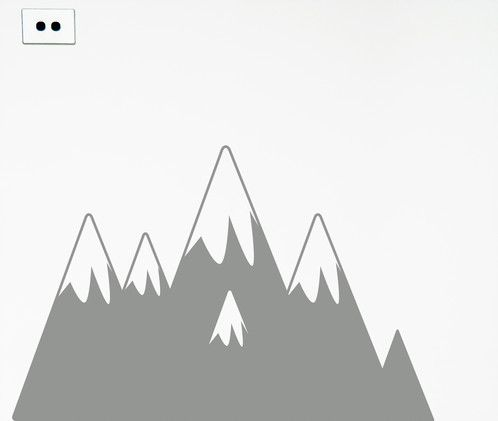 Removable mountain wall sticker for kids rooms. Easy to apply. Get them thinking about where they would like to travel to...https://www.moonfacestudio.com.au/product-page/mountains-vinyl-wall-sticker-decal
