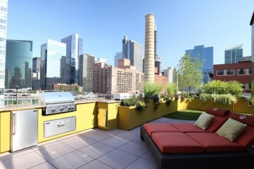 Chicago Green Design modern patio: Rooftops Gardens, Rooftops Patio, Roof Decks, Decks Design, Outdoor Kitchens, Roof Terraces, Rooftops Terraces, Modern Patio, Rooftops Decks